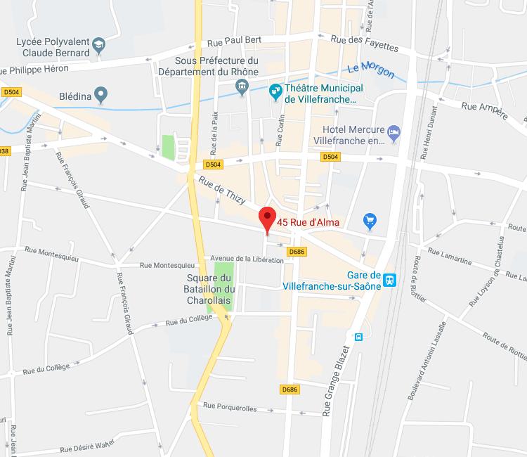 45 rue d Alma Villefranche sur saône