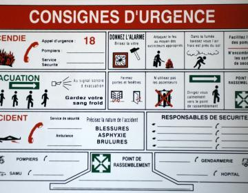 Consignes d'urgence en cas d incendie