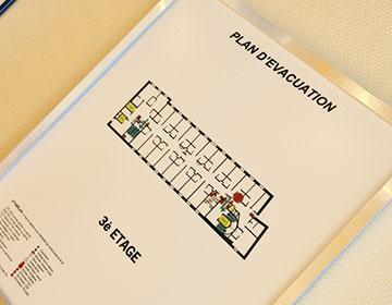 Plan d'évacuation en cas d'incendie