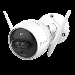 camera evziz Caméra WIFI double objectif intelligent wifi sans alimentation- EZ-C3X - vue de face