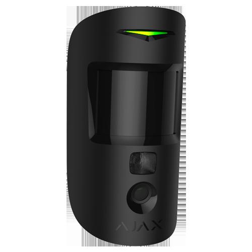 detecteur de mouvement avec camera integree -AJ-MOTIONCAM-B - vue face cote noir