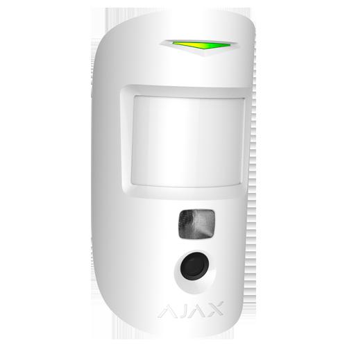detecteur de mouvement avec camera integree -AJ-MOTIONCAM-W - vue de cote blanc